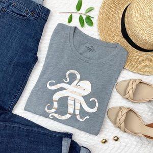 J. Crew Octopus Collector Tee